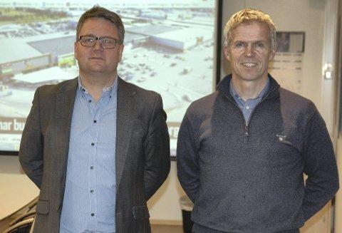 Stolt: Daglig Leder Trond Aasgård (til venstre), avdelingsleder Ole Birger Ulseth og resten av FG Eiendom har sikret seg en kjempekontrakt.