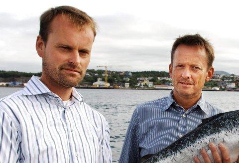 TOPPER: Oppdrettsgründer Hans Olav Aakvik (til venstre) troner på toppen av både inntekts-, skatt- og formuetoppen i Halsa i 2019. Her sammen med bror Nils Aakvik.