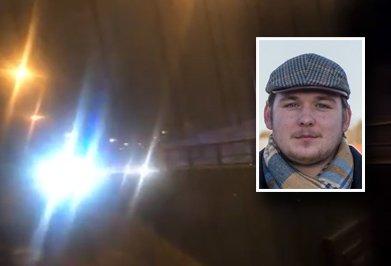 TOK FRAM MOBILEN: Fabian Wike-Andersen filmet hendelsen som foregikk like etter halv tre om natten på Sem.