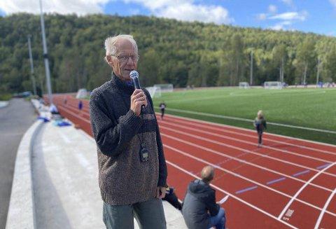 Flott Arena: Gunnar Bjørn Solfjeld og resten av friidrettsgruppa i Tvedestrand ønsker lørdag velkommen til Tvedestrandslekene. Dette stevnet passer for alle - både små og store. Arkivfoto