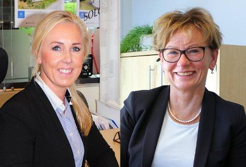 VELGER ULIKT: DNB ved Tina Ulseth Myrvang (t.v.) velger å innføre salgsgaranti, mens Eiendomsmegler 1 ved Marit Wiik velger å ikke gjøre det.
