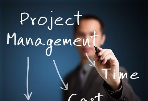 Prosjektledelse er ett av tre vanlige områder midlertidige ledere arbeider med.