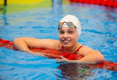 GLIMRENDE: Karen Hellberg Munthe gjorde en glimrende 200 medley da hun ble nummer to i Stavanger.