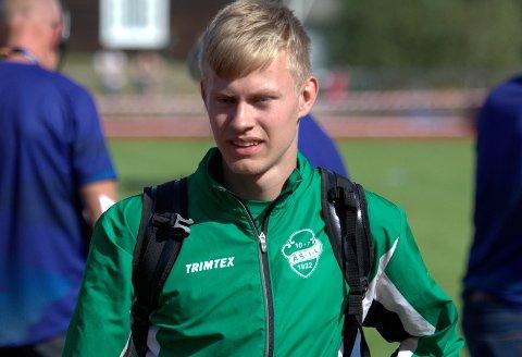 HØYE MÅL: Per Ellef Ryen Aalerud har meldt overgang fra Ås til Tjalve.Sesongens store mål for Per Ellef er å se 10-tallet på 100 meter. I dag har han 11,01 som pers fra 2019.