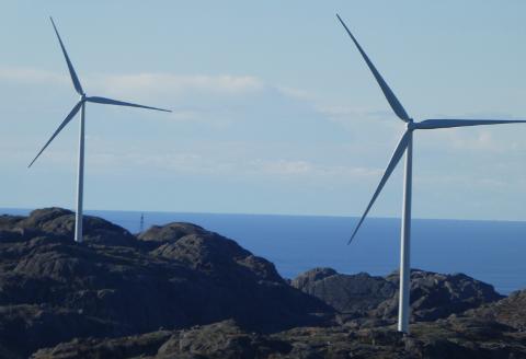 TELLENES: Tellenes vindkraftverk ligger i Lund og Sokndal