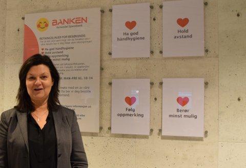 Banksjef Tone Egeland Syvertsen i Kvinesdal Sparebank.