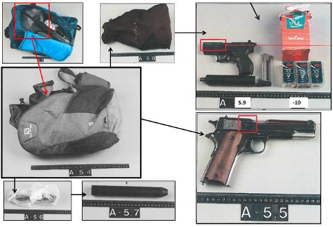 BESLAG: Da politiet slo til mot garasjen, ble det tatt beslag i flere våpen og store mengder ammunisjon.