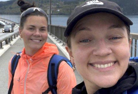Linn Therese Rondestveit (27) og Astri Alves (28) har gått den lengste turen i sitt liv.