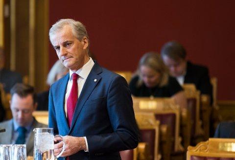 OSLO  20180425. Partileder Jonas Gahr Støre under Stortingets spørretime onsdag.  Foto: Berit Roald / NTB scanpix
