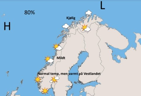 Av de tre nordligste fylkene, blir Nordland værvinner 17. mai. Foto: Storm Geo.