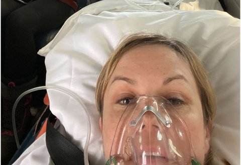 KULLOSFORGIFTET: Liz Utsi, hennes søster og hennes nevø, fikk en dramatisk natt på hytta da de ble utsatt for kullosforgiftning natt til torsdag.