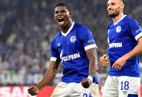 Schalke får tilbake den viktige spissen Breel Embolo til fredagens kamp mot Werder Bremen. (AP Photo/Martin Meissner)