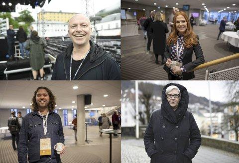 Bergen Live-sjef, Frank Nes, Sølvi Rolland fra Ole Bull-huset, Ivar Chelsom Vogt fra USF Verftet og tidligere direktør for DNS, Bente Hartvedt Ringstad hyller Bare restaurants gründere for Michelin-stjernen de fikk mandag.