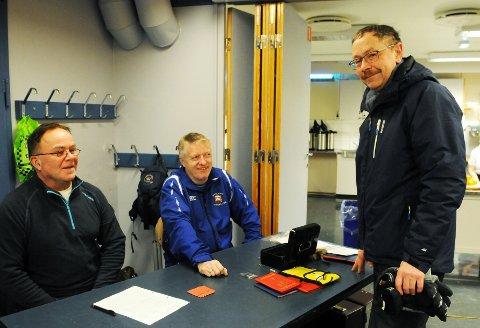 Gunnar Jan Holhaugen går for minst 25. gang. Her sammen med Bjørnar Markussen og Stig Frøyslie i komiteen.