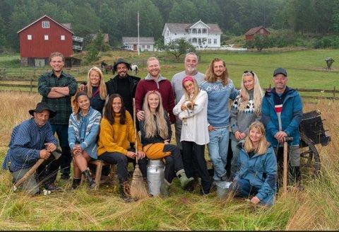 FARMEN: I kveld er det sesongstart for Farmen 2019 på TV 2,  og 14 spente deltakere flytter inn på gården. En av dem er Terje Leer fra Sigdal, som vi ser til høyre i bildet.