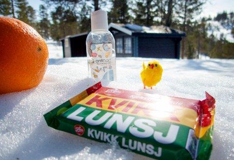 I 2021 blir det nok en koronapåske, med antibac, sjokolade appelsin og besøksforbud på hytta for andre enn de du bor med.