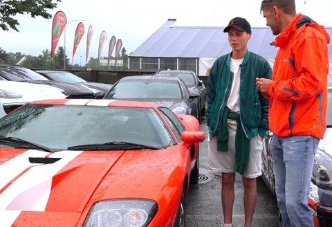 GT: Mikkel Kristiansens siste bilanskaffelse er en Ford GT til nesten 3 millioner kroner. Foto: Broom.no