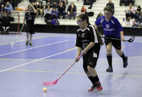 Tøff motstand: Slevik G10 fikk tøff motstand av Sarpsborg i Zonecup. Her er Isabell Mathisen i godt driv.