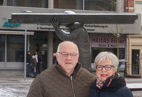 Byoperette: Teddy Madsen og Inger Christien Apenes lover at det blir byoperette i september.