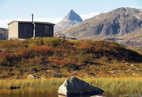 IDYLL: Dette er en av hyttene du kan leie for en billig penge i sommer. Den ligger ved  Årdal i Jotunheimen, og eies av Årdal Jeger- og Fiskerforening.
