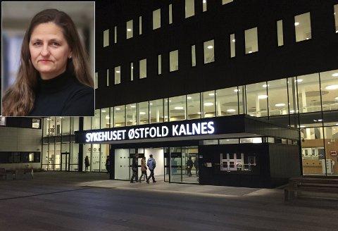 Foretakstillitsvalgt Anita Granli i Norsk Sykepleierforbund (innfelt) forteller at flere sykepleiere ved sykehuset gruer seg til helgevaktene. Hun synes det er bra at sykehuset gir en godtgjørelse til dem som påtar seg ekstra helgevakter.