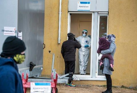 I overkant av 2.200 personer testet seg på koronasenteret sist uke.
