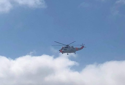 Ved 15.30-tiden kunne man se et redningshelikopter over Værste-området.