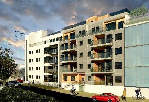 PRISREKORD: De to toppleilighetene i dette boligprosjektet på Frydenlund er priset til over 83.000 kroner per kvadratmeter. Det er rekordhøyt i Narvik