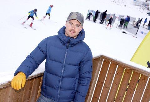 På hjemmebane: Her, i Valfjället, har Matts Olsson (29) tusentalls med treningstimer. Nå er storslalåmstjernen klar for sitt andre OL. Foto: Henrik holter