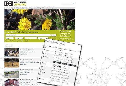 Registrering på nett: Registreringsskjemaet ligger på Kulturnett Oppland – OG på GD.no/puls.