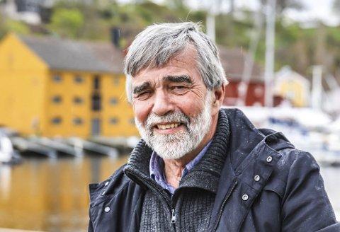SJØBODENE: SG-arkitekter holder til i den gule sjøboden i bakgrunnen. Jon Tore Grimsrud har vært med siden starten.