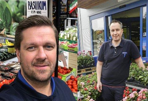 Rema-kjøpmennene Erik Olsen (tv) og Jon Myhre opplevde et godt økonomisk 2020.