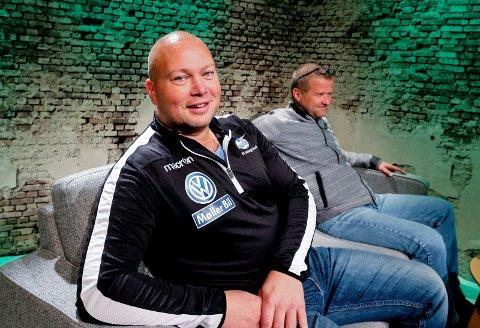 GJEST: FKHs keepertrener Espen Skistad. Bak: Odd Kåre Grøttland.