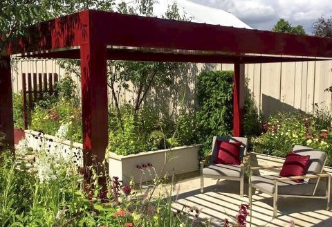 Oppholdssted: Man kan designe fine oppholdssteder utendørs.