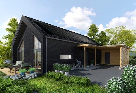 SOLKRAFT: For første gang i privatmarkedet på Haugalandet tilbys nå eneboliger hvor solcellepanel er inkludert i prisen.
