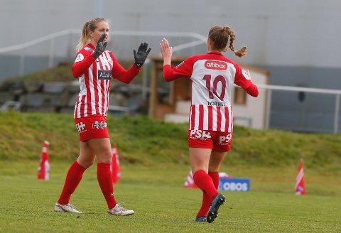 MATCHVINNER: Elise Thorsnes scoret kampens eneste mål da Avaldsnes slo Arna-Bjørnar 1-0 i kvartfinalen i cupen.
