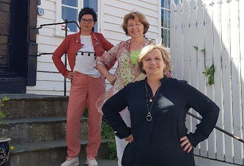KVINNESAK: Veronika Brekke Jakobsen, Eli Margrete Stølsvik og Aase Simonsen står bak den nye kvinnesaksforeningen.