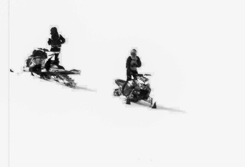 Statens Naturoppsyn jaktet på to scooterførere i Loppa i april 2018. De to ble dømt i Alta tingrett.