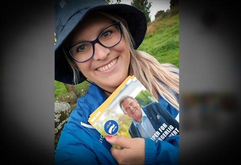 FAST PLASS: Gretha Braut Nese (37) var fyrste vara til kommunestyret for Høgre. Nå kjem ho inn på fast plass. Biletet er frå valkampen.