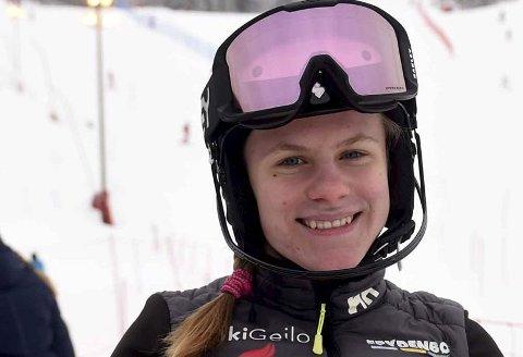 16. PLASS: Anine Thoresen ble nummer 16 i storslalåm-NM i Hemsedal.