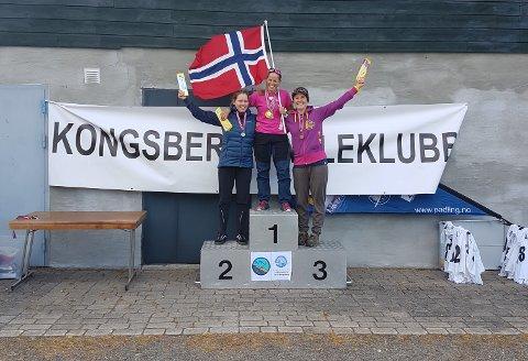 GULL: Valerie Bertrand fikk NM-gull i kajakk, og sølv i kanoklassen, under helgens norgesmesterskap i slalåmpadling.