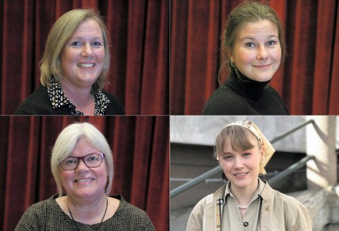 Flytting og fritak: Disse fire må erstattes i Lier-politikken. Øverst fra venstre: Hilde Fossum (H) og Nina Engebakken Duesund (H). Nederst fra venstre: Tone Bergflødt (Sp) og Erika Melhus (V):