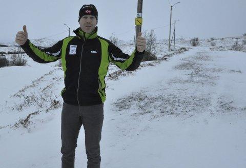 Fornøyd: Inge-Harald Olsen og Leknes skiklubb er blant lagene og foreningene som mottok midler fra Lofotkraftfondet. Foto: Magnar Johansen