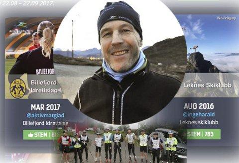 FORNØYD: – Vi tapte mot Billefjord, men står likevel igjen som vinner, sier en fornøyd Inge-Harald Olsen i Leknes skiklubb.