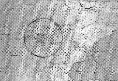 Kart over Æsholmene.