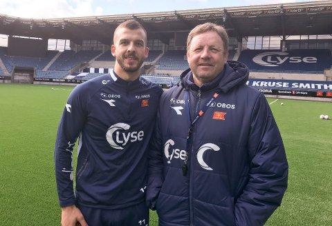 VIKING: Zlatko Tripic har signert kontrakt for tre nye år med Viking. Her sammen med Viking-treneren Bjarne Berntsen.
