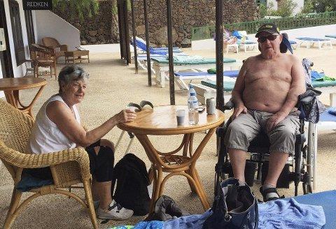 Slagrammede Gunnar Martinussen (87) ble fratatt fysioterapibehandling i Moss, men viser ifølge datteren stor framgang mens han trenes opp i varmere strøk.