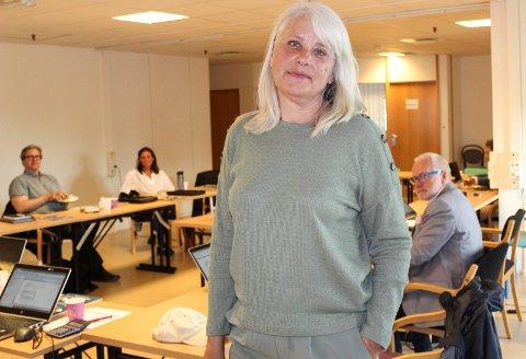 ORIENTERTE: Ann-Bjørg Moan, avdelingsleder i avdeling rus og psykisk helse, orienterte utvalget for helse og mestring om situasjonen for deres brukere under korona-pandemien.