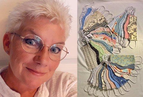 Camilla Johansen Strøm-Blakstad har prøvd og feilet før hun ble fornøyd med passformen på munnbindene.