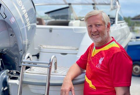 BÅTTYVERI: Båten til Øyvind Eskevik ble stjålet, men heldigvis endte det hele godt.
